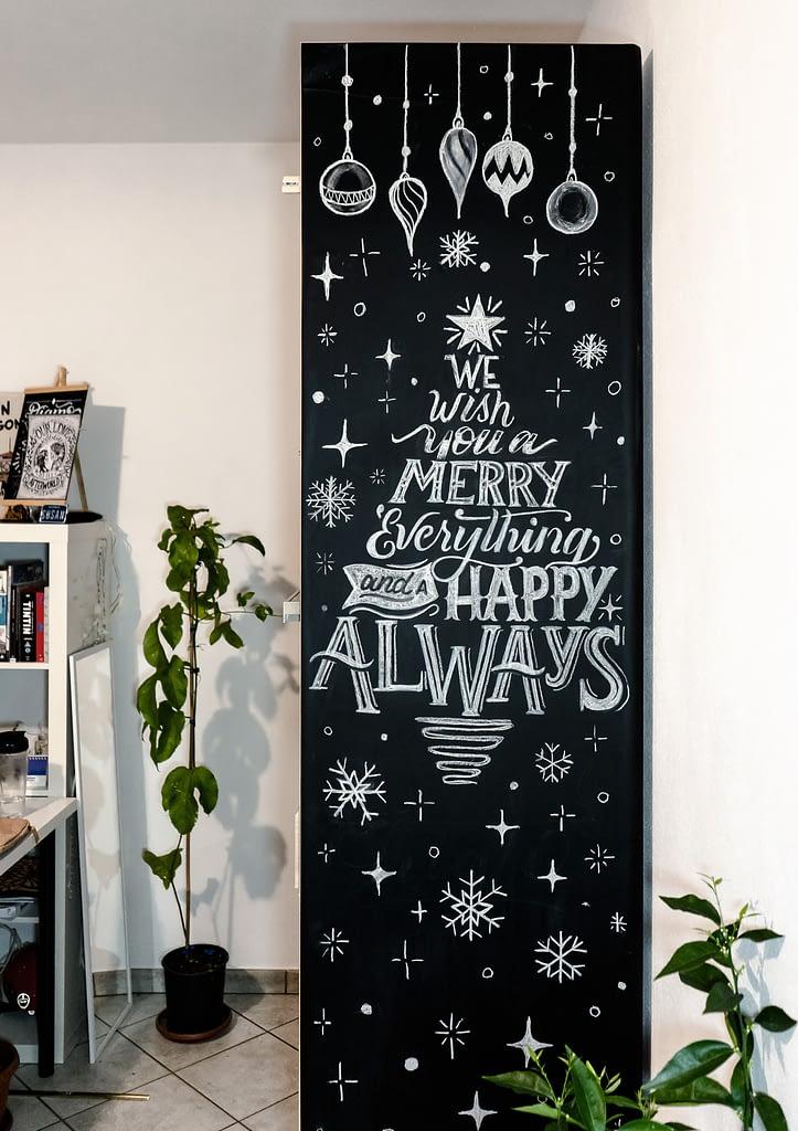 Blackboard Lettering Mural - Baking Design
